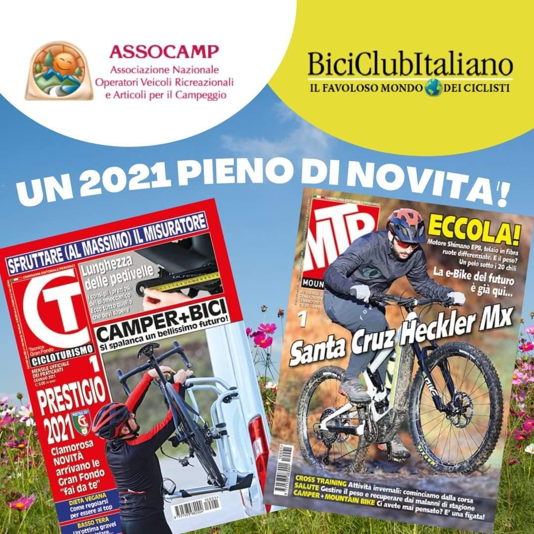 FLY CAMPER CONVENZIONATA CON BICI CLUB ITALIANO