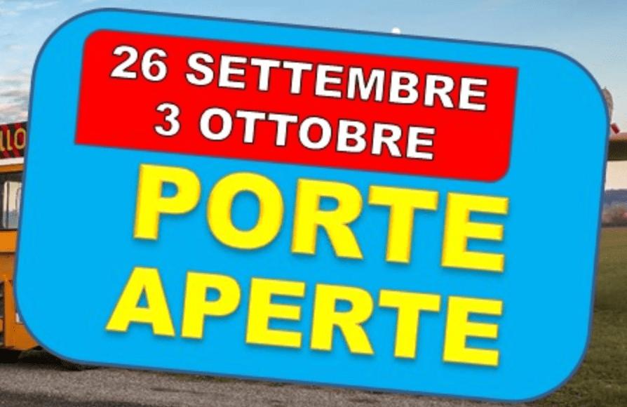 Porte Aperte 26 settembre e 3 ottobre